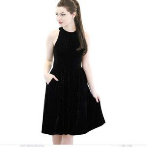 Retrolicious Black Velvet Darling Dita Dress